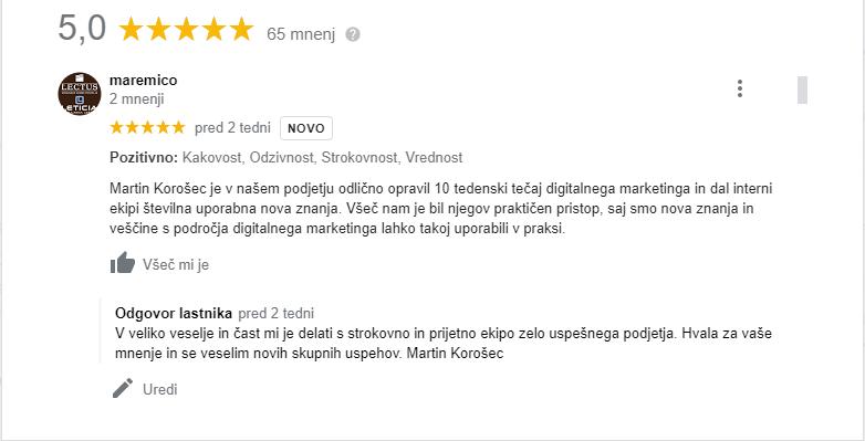 mnenje Maremico Emil